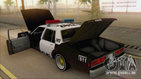 Chevrolet Caprice 1987 pour GTA San Andreas vue arrière