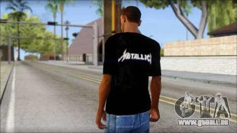 Metallica T-Shirt für GTA San Andreas zweiten Screenshot