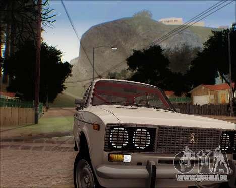 VAZ 2106 Accordables pour GTA San Andreas vue arrière