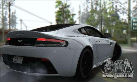 Aston Martin V12 Vantage S 2013 für GTA San Andreas Rückansicht