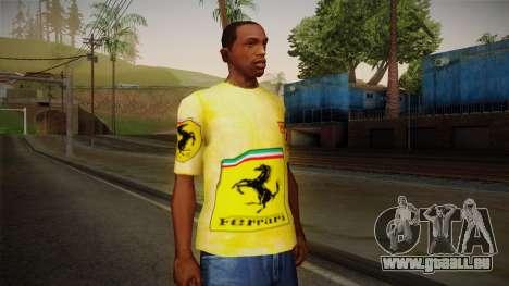 Ferrari T-Shirt für GTA San Andreas