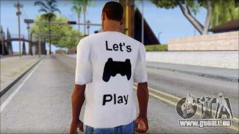 Lets Play T-Shirt pour GTA San Andreas deuxième écran