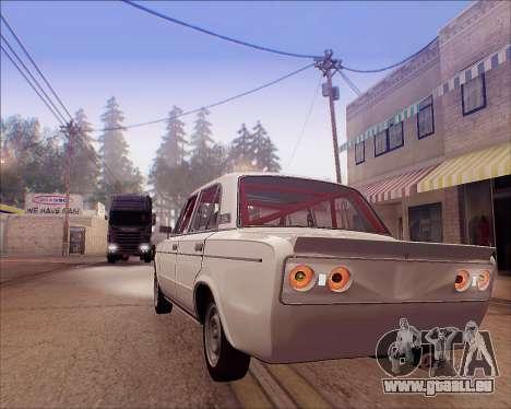 VAZ 2106 Accordables pour GTA San Andreas vue intérieure