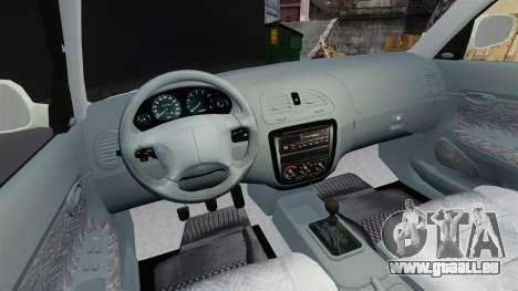 Daewoo Nubira I Sedan CDX PL 1997 pour GTA 4 Vue arrière