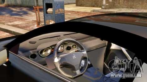 Peugeot RCZ für GTA 4 hinten links Ansicht