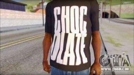 Chocolate T-Shirt pour GTA San Andreas troisième écran