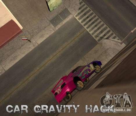 Car Grav Hack pour GTA San Andreas deuxième écran