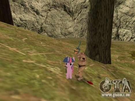 Twilight Sparkle pour GTA San Andreas troisième écran