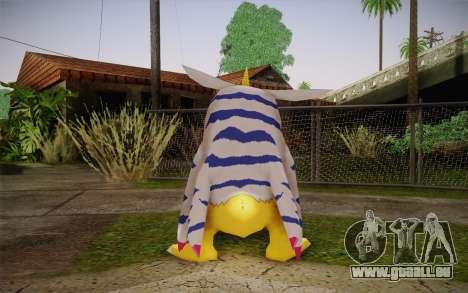 Gabumon pour GTA San Andreas deuxième écran