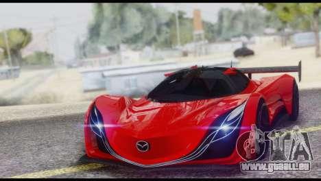 Mazda Furai 2008 pour GTA San Andreas vue de dessus