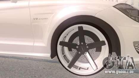 Mercedes-Benz CLS63 AMG pour GTA San Andreas sur la vue arrière gauche