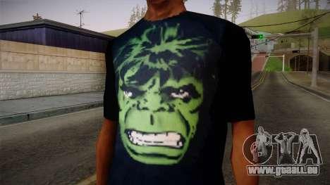 HULK T-Shirt pour GTA San Andreas troisième écran
