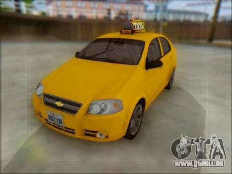 Chevrolet Aveo Taxi für GTA San Andreas