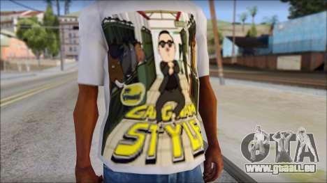 Gangnam Style T-Shirt pour GTA San Andreas troisième écran