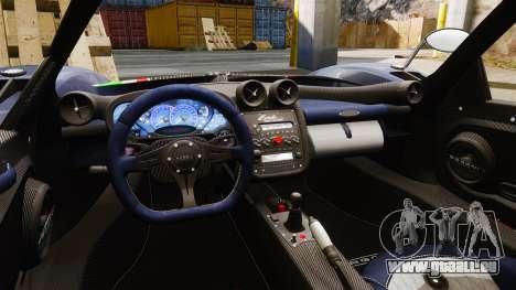 Pagani Zonda Tricolore pour GTA 4 Vue arrière
