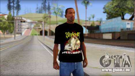 SlipKnoT T-Shirt v5 pour GTA San Andreas