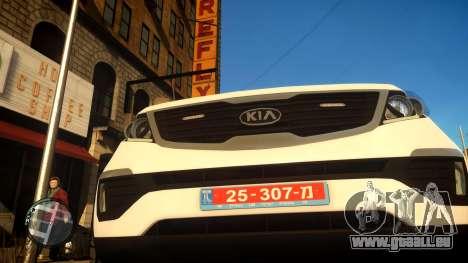 Kia Sportage Israel Police car (Mishtara) für GTA 4 Rückansicht