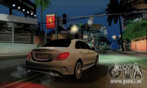Mercedes-Benz C250 2014 V1.0 EU Plate für GTA San Andreas zurück linke Ansicht
