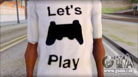 Lets Play T-Shirt pour GTA San Andreas troisième écran