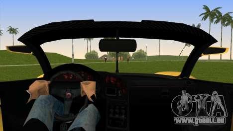 Turismo R from GTA 5 für GTA Vice City zurück linke Ansicht