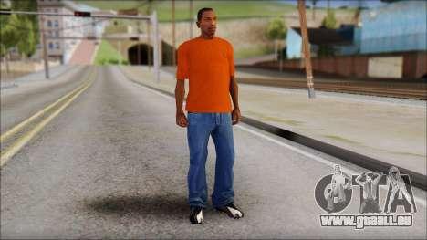 Fred Perry T-Shirt Orange pour GTA San Andreas troisième écran