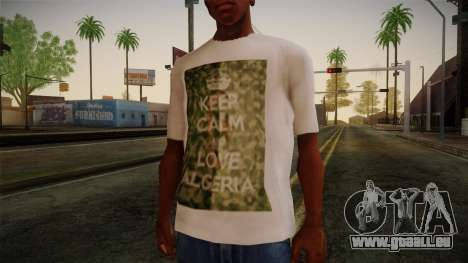 Keep Calm and Love Shirt für GTA San Andreas