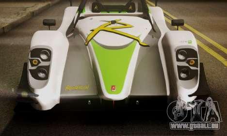 Radical SR8 Supersport 2010 für GTA San Andreas Rückansicht