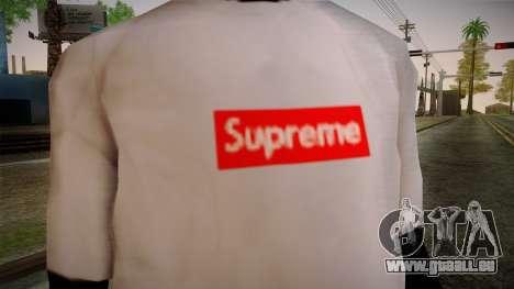 Supreme T-Shirt pour GTA San Andreas troisième écran