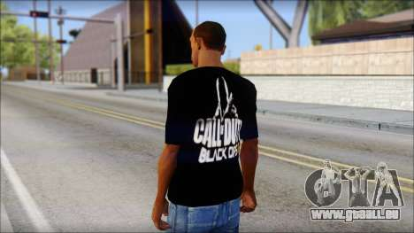 COD Black Ops 2 Fan T-Shirt für GTA San Andreas zweiten Screenshot