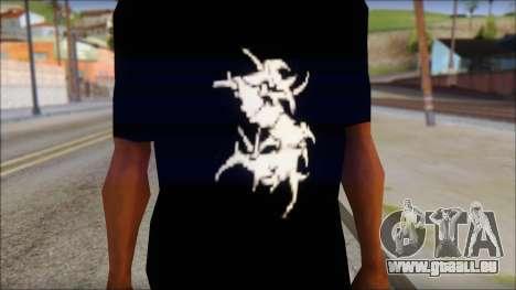 Sepultura Logo T-Shirt pour GTA San Andreas troisième écran