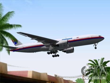 Boeing 777-2H6ER Malaysia Airlines pour GTA San Andreas vue de côté