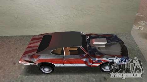 Oldsmobile 442 1970 v2.0 pour GTA Vice City sur la vue arrière gauche