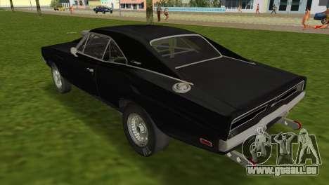 Dodge Charger RT Street Drag 1969 pour une vue GTA Vice City de la gauche