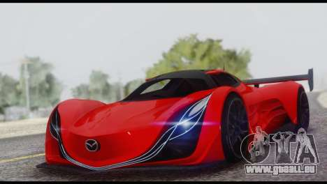 Mazda Furai 2008 pour GTA San Andreas vue de dessous