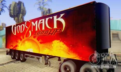 Godsmack - 1000hp Trailer 2014 für GTA San Andreas Rückansicht