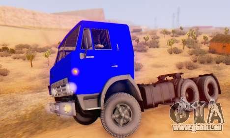 KamAZ 54112 FIV pour GTA San Andreas laissé vue