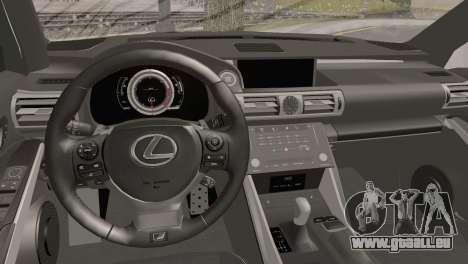 Lexus IS350 FSport 2014 Hellaflush für GTA San Andreas rechten Ansicht