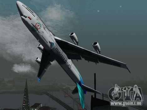 Boeing 747-400 de Garuda Indonesia pour GTA San Andreas vue arrière