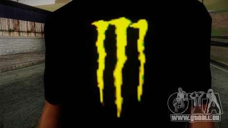 Monster Ripper Shirt Black pour GTA San Andreas troisième écran