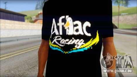 Fictional Carl Edwards T-Shirt pour GTA San Andreas troisième écran
