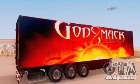 Godsmack - 1000hp Trailer 2014 pour GTA San Andreas sur la vue arrière gauche