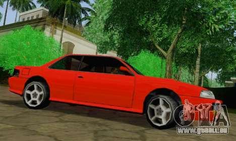 Sultan Coupe für GTA San Andreas zurück linke Ansicht