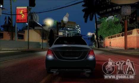 Mercedes-Benz C250 2014 V1.0 EU Plate für GTA San Andreas Innenansicht