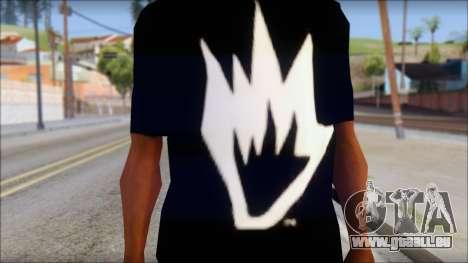 Afends T-Shirt pour GTA San Andreas troisième écran