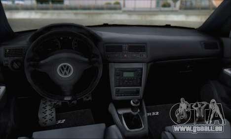 Volkswagen Golf MK4 R32 für GTA San Andreas Unteransicht