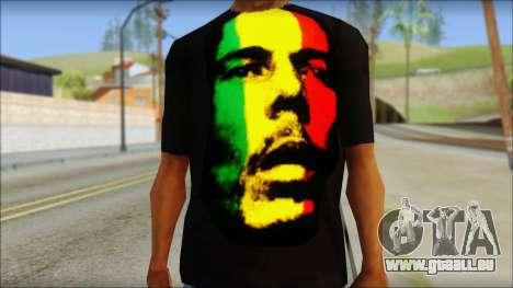 Bob Marley T-Shirt für GTA San Andreas dritten Screenshot