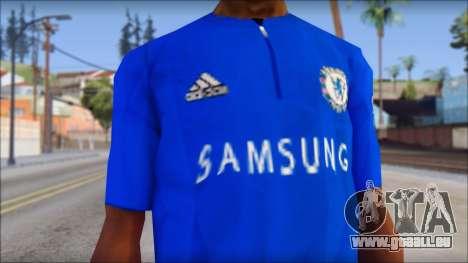 Chelsea F.C Drogba 11 T-Shirt für GTA San Andreas dritten Screenshot