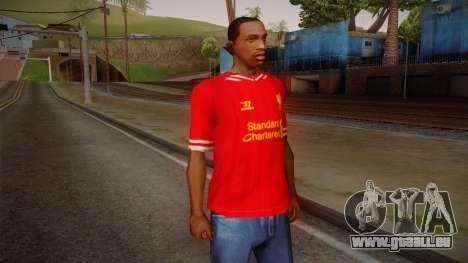 Liverpool FC 13-14 Kit T-Shirt für GTA San Andreas