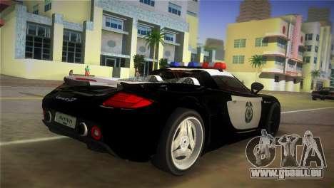 Porsche Carrera GT Police pour une vue GTA Vice City de la gauche