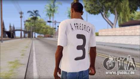 A.Friedrich Trikot T-Shirt für GTA San Andreas zweiten Screenshot